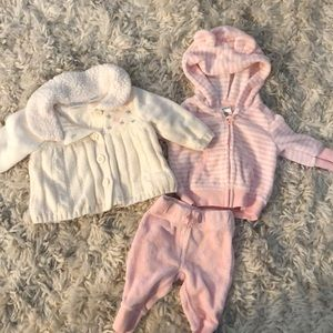 Other - NWOT Carter's Newborn Sweater and pant Bundle